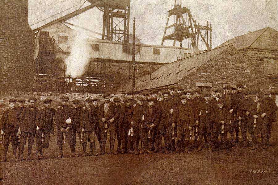 Usworth Colliery Miners - 1908