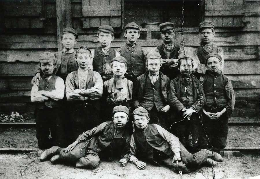 Usworth Colliery Pit Lads - c.1907