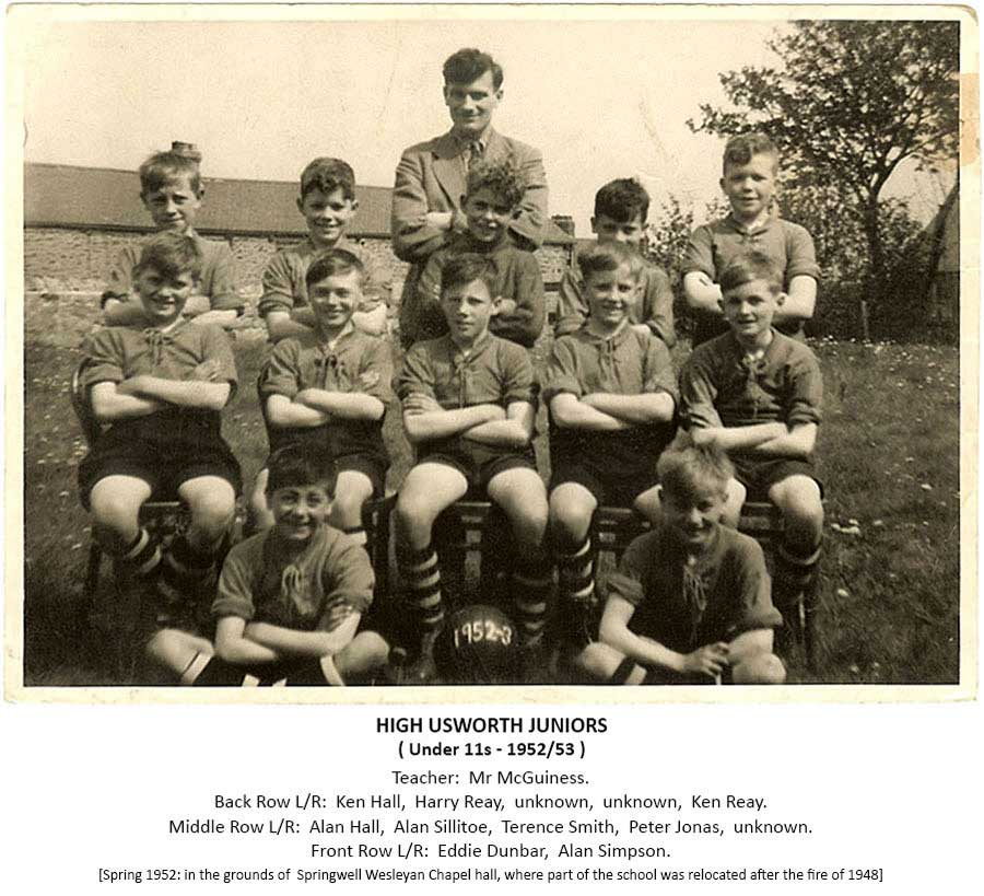 High Usworth Football Team - 1952/53