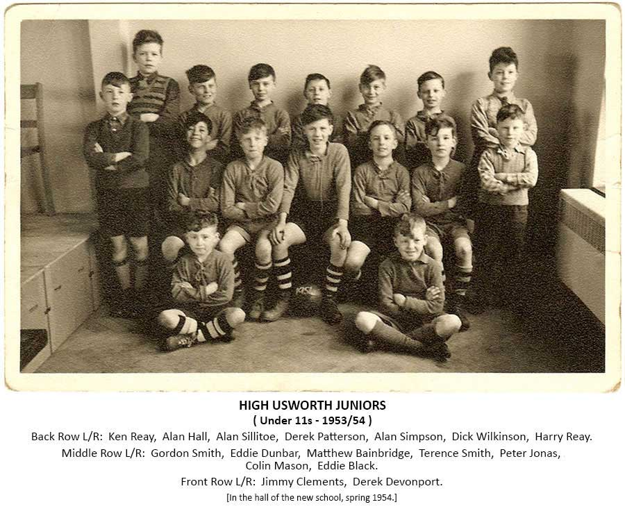 High Usworth Football Team - 1953/54